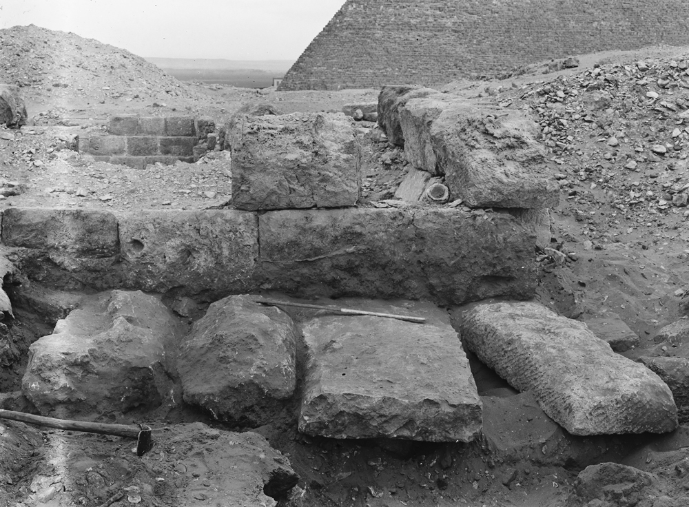 D 208, serdab, roofing, looking east. Photo ID HUMFA_C10603_OS, photo and description courtesy of the Giza Archives maintained by Harvard University and the Museum of Fine Arts Boston, online at Digital Giza.