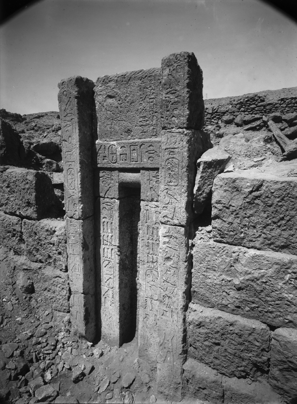 G 2352, northern northern false door inscribed for Hagy, looking southwest. Photo ID HUMFA_A5779_NS, photo and description courtesy of the Giza Archives maintained by Harvard University and the Museum of Fine Arts Boston, online at Digital Giza.
